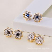 Muticolor Plated Flower Zircon Fashion Earring (23799)