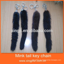 Hotsale fashion Genuine Fur Mink Tail Llavero