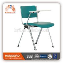 CV-B192BS-2 base de metal cromado PU respaldo y asiento silla de la escuela con tablero de escritura