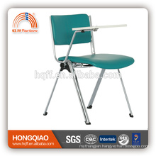 CV-B192BS-2 chrome metal base PU back&seat school chair with writing board
