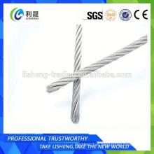 Corda de aço galvanizada 6 * 7 cabo de aço galão