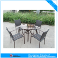 Aluminum modern outdoor furniture rattan table and chair GS3003