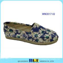 Vente chaude loisirs occasionnels chaussures avec corde de chanvre