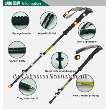 Adjustable carbon fibre trekking pole, Walking Stick