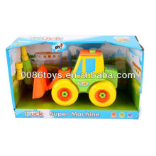 21cm forklift truck free wheel DIY toys,educational toys
