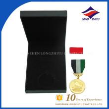 Venta al por mayor de alta calidad de metal medallas de honor de metal con cajas