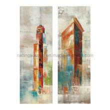 Impresión de la lona del paisaje del arte de la pared Pintura al óleo abstracta en lona