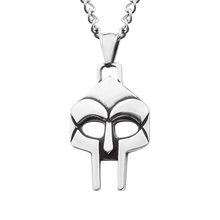 Punk Stainless Steel Mask Pendant Skull Italy Silver Jewelry