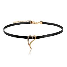 44328 Xuping bijoux nouvellement chaud ventes élégant collier ras du cou avec amour en forme de coeur