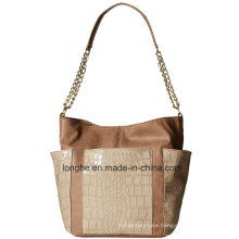 Croc-Embossed PU Leather Fashion Ladies Hobo Bag (ZXS0122)