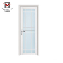 2018 china alibaba cheap bathroom door with glass
