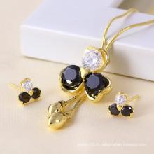 Échantillons gratuits Ensemble de bijoux en or 14k en or élégant (61158)
