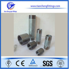 "1-1/4"" ANSI threading carbon steel pipe nipple"