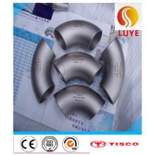 Conexiones de acero inoxidable ASTM 304 Codo de 90 grados
