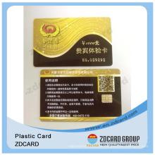 Geschenk Barcode Karte / Geschenkkarten Magnetische Streifen / Gold Geschenkkarte