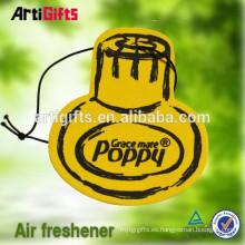 Ambientador de aire de papel absorbente hecho a mano del coche
