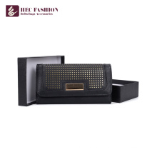 Хек брендов корейский Стиль сумочки ПВХ кожаный бумажник Материал