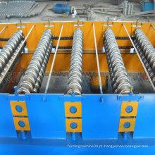 Máquina de perfil de rolamento de metal em telhado ondulado