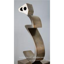 Moderne en acier inoxydable métal jardin art landsape sculpture extérieure sculpture en métal
