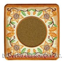 Coaster bordado floral