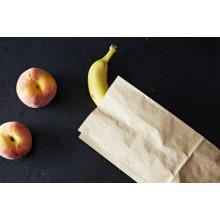 Bolsa de papel de alimentos que hace la máquina con la impresión en línea