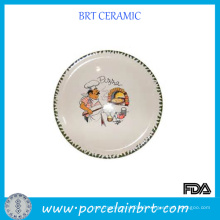Kitchen Cooking Ceramic Pizza Plate