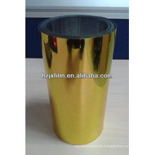 Película de PET metalizado con recubrimiento de oro