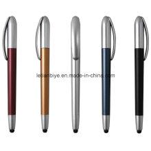 Bolígrafo de tacto plástico con pantalla táctil Twisted Action (LT-C650)