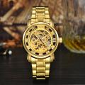 2017 modern design steel gold watches men