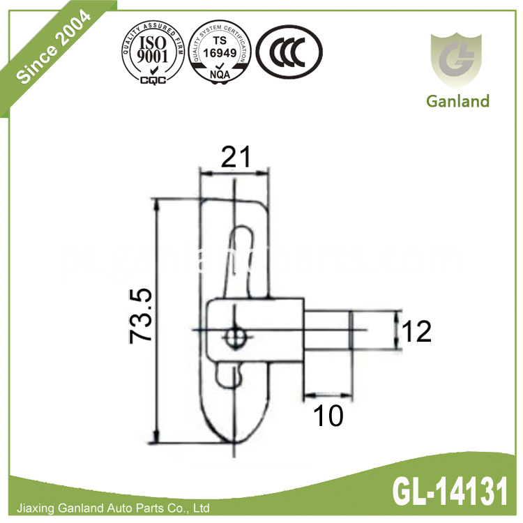 Weld-on Anti Luce Fasteners GL-14131