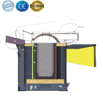 steel melting electric crucible induction furnace parts