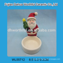 2016 christmas ornaments ceramic candle holder in santa claus shape