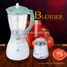 Vendas quentes 4 velocidades 1.5L PS ou PC Jar 2 em 1 Elétrico baixo nível de ruído Food Blender