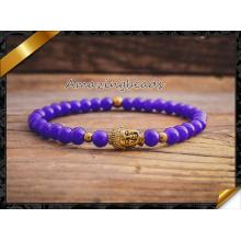 Bijoux chauds en perles en pierre de jade Bracelet en or en or Bijoux en gros pour la mode (CB042)