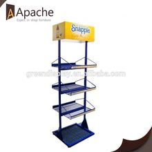 Professional mould design clothing store single pen display stand