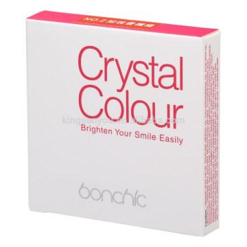 Palette de maquillage à lèvres à lèvres et à lamé cosmétique naturelle et naturelle