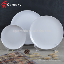 Hot selling customize white ceramic desert plate