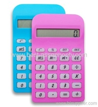 Electronic Transparent Calculato Mini Slim Credit Card Solar Power Pocket Calculator