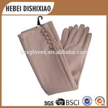 Gants en cuir Long Arm Pu, gants longs à la mode pour femmes en gros