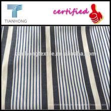 Tela de raya yarn personalizada telas a rayas de hilo teñido telas/línea raya