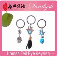 Evil Eye Bedeutung Hamsa Evil Eye Schlüsselanhänger Auge des Bösen Schlüsselanhänger Ring
