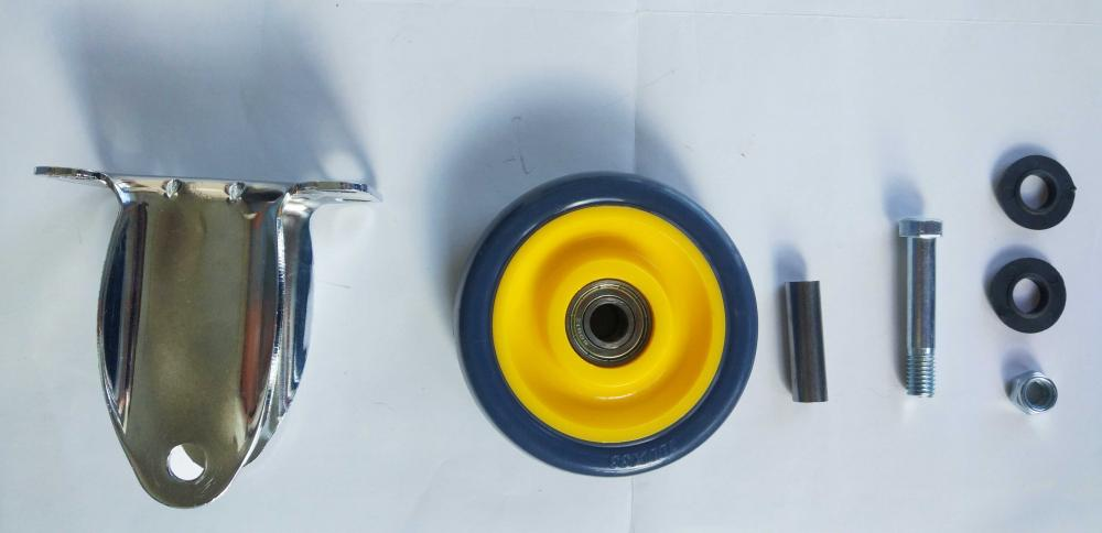 Parts Of 4 Pu Fixed Caster Wheel