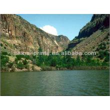 Fotografia da paisagem da natureza na impressão da lona
