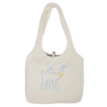 Fabric Shoulder Canvas Handbag Embroidery Shopping