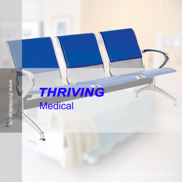 Low-Price Stainless Steel Hospital Accompaying Waiting Chair (THR-YD1030)