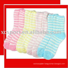 stripped fiber socks