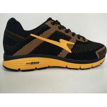 Модный дизайн черный желтый спортивный кроссовки
