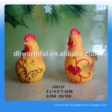 Atacado qualidade superior resina galo decoração