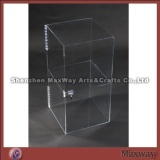 Clear vertical 2 layered table carved acrylic