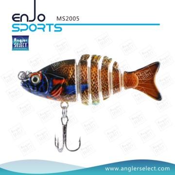 Angler Selecione 5 seção pesca atração top água plástico pesqueiro (MS2005)